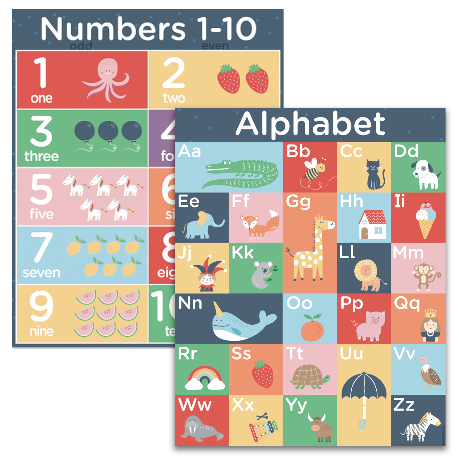 Alphabet 1 Learning Kids School Poster ABC Teaching Symbols Letters Colour Photo